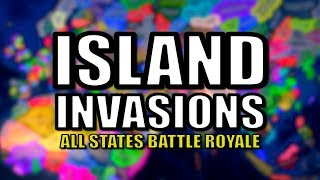 All States Battle Royale - Island Nations Invasion (HOI4)