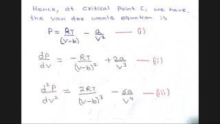 Critical Constants in Term of Van der waal's constant