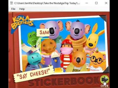 Koala Brothers - Say Cheese Stickerbook