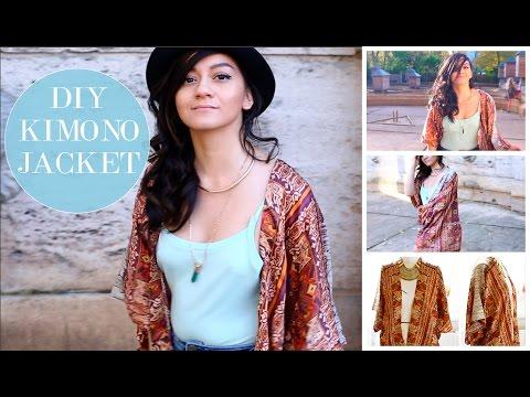 How to sew a simple Jacket Kimono DIY| Wie man eine Cardigan Jacke näht