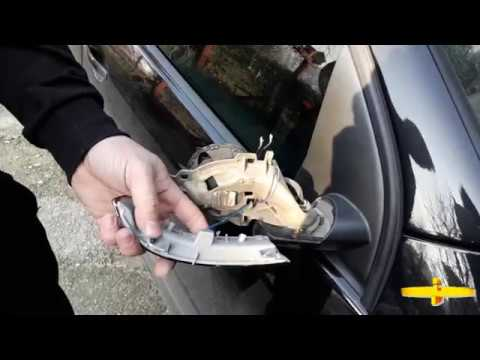 Changing the indicator light by the mirrors VW Golf 5 (Tutorial)