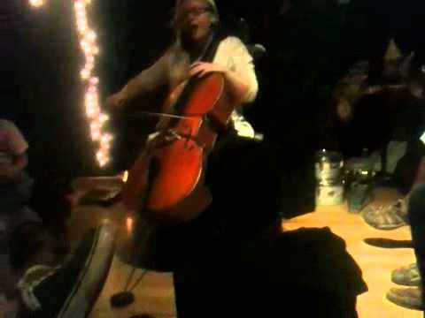 In performance, sung cello.