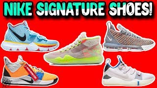 Detailed Look & Comparison of Every Signature Basketball Shoe from NIKE!