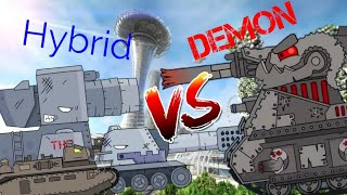Hybrid tank VS Demon tank | Flipaclip animations