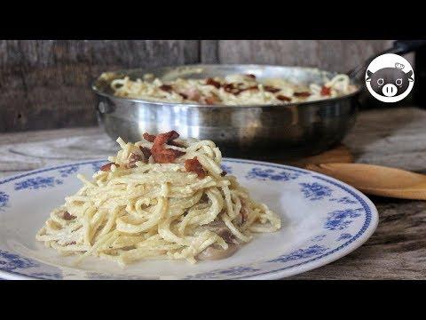 Carbonara Filipino Style Recipe | Ham Bacon and Mushroom Carbonara using All Purpose Cream