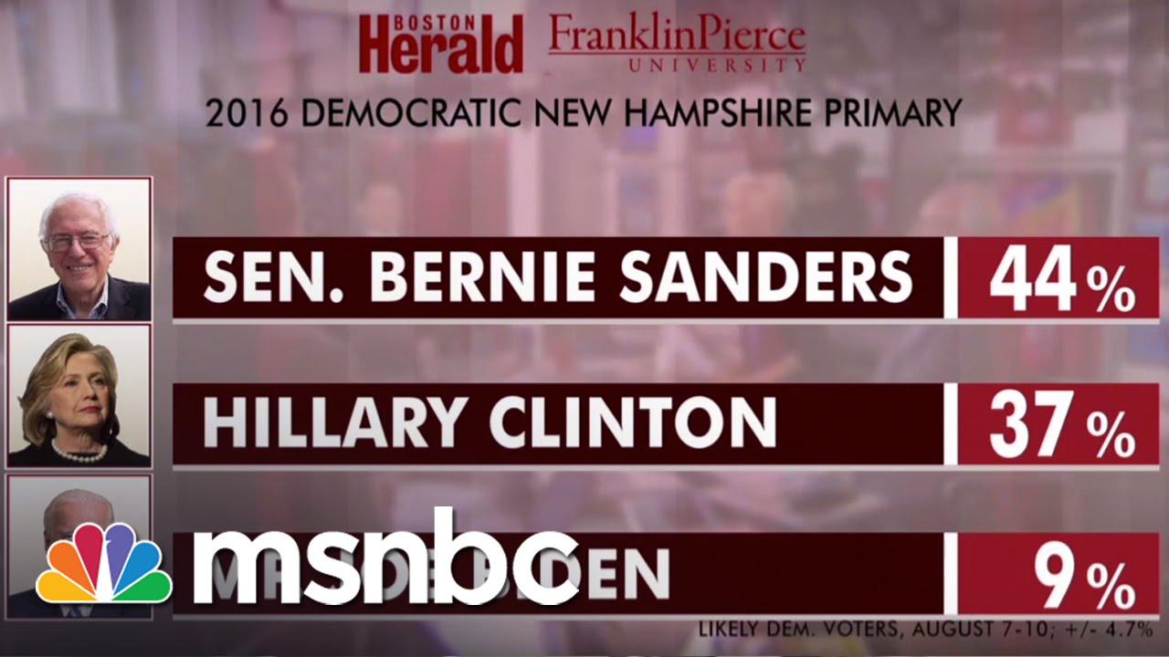 Bernie Sanders Takes The Lead Over Hillary Clinton | msnbc thumbnail