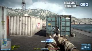 Battlefield 3 - 100 Headshots with .44 Magnum - Montage