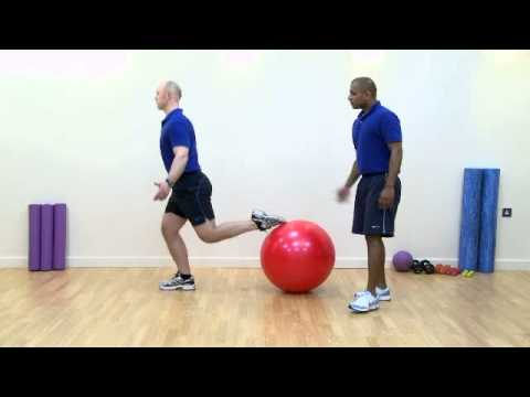 Lunge Using a Stability Ball