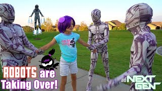 ROBOTS are TAKING OVER NINJA KIDZ TV!! NEXT GEN New Movie!