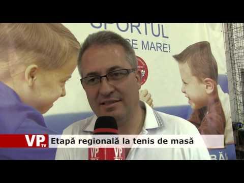 Etapă regională la tenis de masă