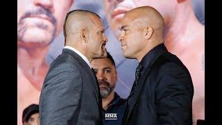 Chuck Liddell vs. Tito Ortiz 3 Press Conference Staredown - MMA Fighting