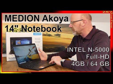 "Medion Akoya E 4254 - 14"" Full-HD - ALDI Notebook - Unboxing u. erster Eindruck"