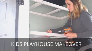 DIY Kids Playhouse | Farmhouse Playroom Makeover | Storage Closet Renovation