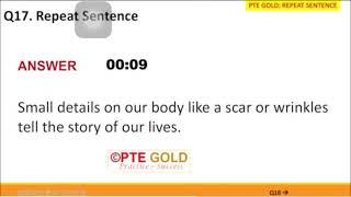 PTE repeat sentence