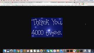 I Thank You 4175 Times!