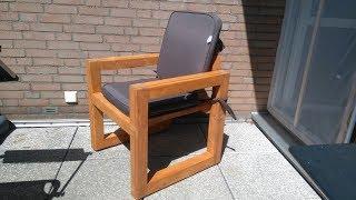 Ein Gartenstuhl aus Holz selber bauen.  Build a wooden garden chair yourself