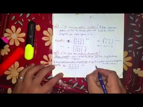 Matrice symétrique,Identité et diagonale ''Part7''