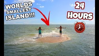 24 HOURS ON THE WORLDS smallest ISLAND!! *STRANDED* (Gone Horribly Wrong) | JoogSquad PPJT