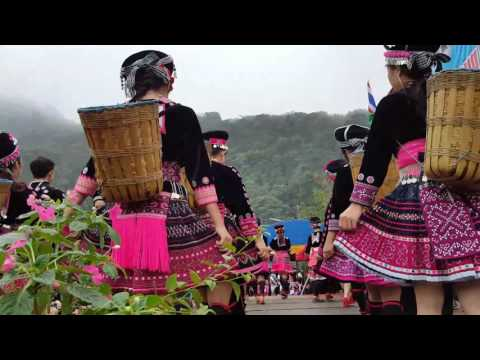 New year celebration of Hmong tribe villagers gathered in Doi Pui,   north Thailand(1)