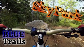 Riding all of the intermediate level trails at SkyPark