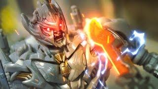 Transformers Stop Motion   Megatron VS Optimus Prime