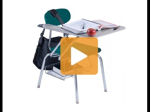 3500 Series Hard Plastic Tablet Arm Chairs - Hertz Furniture
