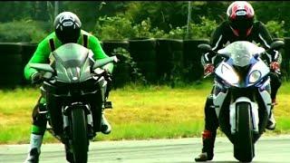 KTM DUKE 1290 VS BMW S1000RR. |DRAG RACE| |RACE BETWEEN 2 SUPERBIKES|.