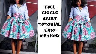 How To Make A Skirt For Beginners| Circle Skirt Tutorial | Sewing Tutorial| Cutting And Stitching