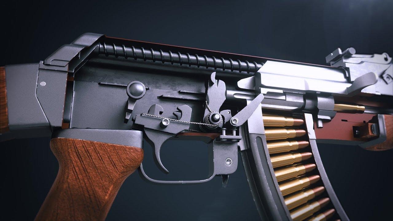 Detailný pohľad na to ako funguje AK-47