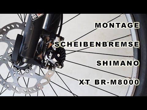 Shimano Scheibenbremse XT BR-M8000 (Anleitung Montage)