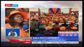 ODM leader Raila Odinga has assured women aspirants vying on ODM ticket free and fair nominations