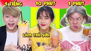 Trà Sữa 1 Phút Vs 10 Phút Vs 1 Tiếng - Valentine Của Xanh Lanh Chanh Tội Nghiệp!!