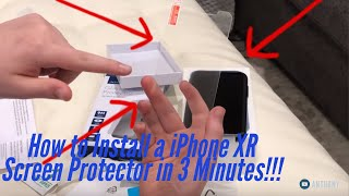 How to apply a $12 Tempered Glass Screen Protector to the iPhone XR in 3 MINUTES!!!! Insignia