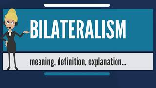What is BILATERALISM? What does BILATERALISM mean? BILATERALISM meaning, definition & explanation