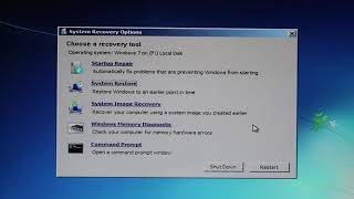 Windows 7 - System Recovery Options - Como resolver