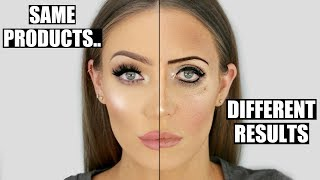Same Products... COMPLETELY Different Results! Makeup Dos and Don'ts | STEPHANIE LANGE - Video Youtube