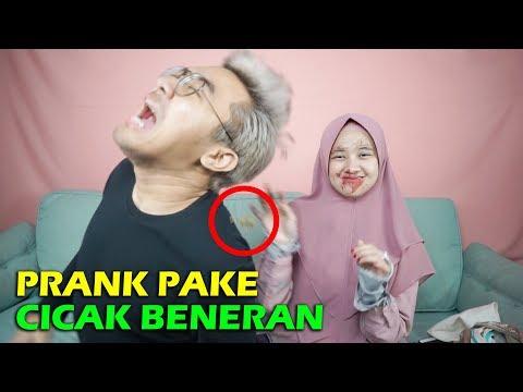 PRANK PACAR : CICAK DI LEMPAR KE MUKA SAMPE MARAH2 !