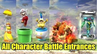 All 51 Character Battle Entrances in Super Smash Bros Wii U 1080p 60fps