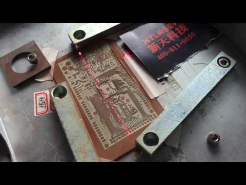 FAIL - cutting Single-Sided PCB with 5W laser - смотреть