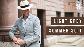 5 Light Grey Suit Combinations For Summer | What To Wear With Light Grey Suit