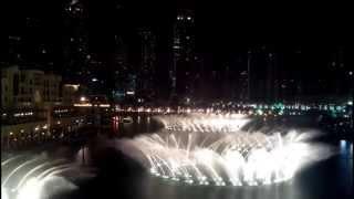 Поющие фонтаны, арабская мелодия очень красиво. Дубай 2014