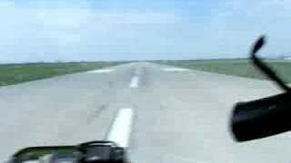 B-17 Take off view from bombardiers seat