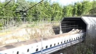 トンネルドン!?風と共に飛び出す山陽新幹線!!