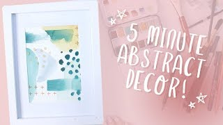 5 MINUTE ART: Pop Abstract Watercolor Tutorial (SUPER EASY For Beginners!)