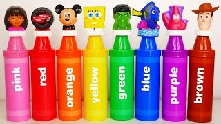 Learn Colors with Giant Crayons and Surprise Eggs with Toys for Kids