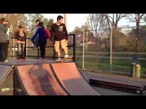 Drop in fail Logansport Skatepark