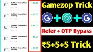 🤑Gamezop Fully Refer OTP Bypass Trick !! 5+5+5 Unlimited Paytm Cash !! (Gamezop Unlimited Trick)