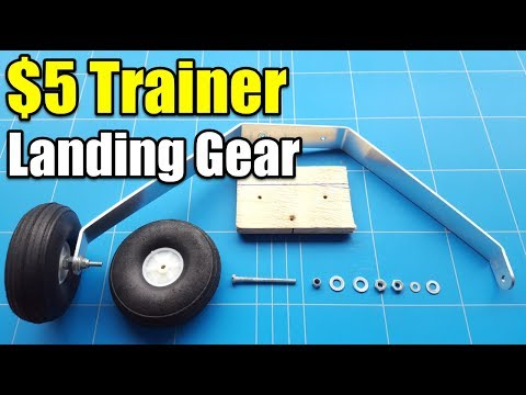 $5 Trainer Unbreakable Rc Plane Project EP6 Landing Gear Install and Take OFF & Landing Test