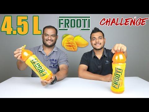 4.5 LITRE MANGO FROOTI CHALLENGE   Juice Challenge   Food Challenge