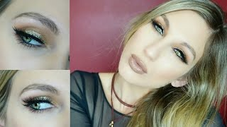 NEW YEARS EVE GLITTER GLAM MAKEUP TUTORIAL│COLLAB WITH CASEY VEE